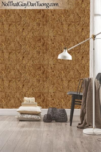 Giấy dán tường Natural Hàn Quốc 87026-3 PC, giả gạch, giả đá, giả gỗ 3D, giấy dán tường giả gạch, màu vàng loang, phối cảnh
