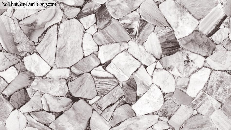 Giấy dán tường Natural Hàn Quốc 87028-1, giả gạch, giả đá, giả gỗ 3D, giấy dán tường giả đá, màu trắng xám