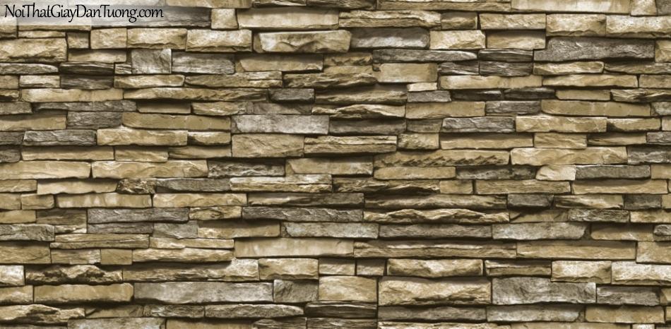 Giấy dán tường Natural Hàn Quốc 87030-3, giả gạch, giả đá, giả gỗ 3D, giấy dán tường giả đá, màu vàng cát