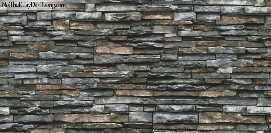 Giấy dán tường Natural Hàn Quốc 87030-4, giả gạch, giả đá, giả gỗ 3D, giấy dán tường giả đá, màu nâu xám