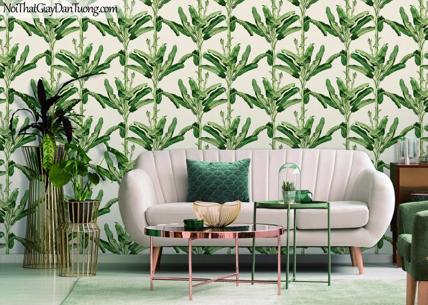 Giấy dán tường FIESTA Hàn Quốc FE1601-2 PC, giả tranh, giả gỗ, hoa lá, cây xanh, tranh 3D, giấy dán tường cây xanh, phối cảnh