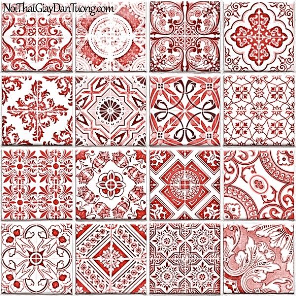Giấy dán tường FIESTA Hàn Quốc FE1604-2 (2), giả tranh, giả gỗ, hoa lá, cây xanh, tranh 3D, giấy dán tường gân nhỏ, họa tiết, hoa văn cổ điển xưa, màu hồng