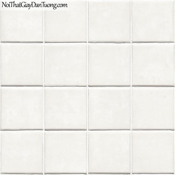 Giấy dán tường FIESTA Hàn Quốc FE1605-1, giả đá, giả gạch, tranh 3D, giấy dán tường giả gạch, màu trắng