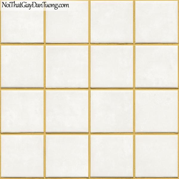 Giấy dán tường FIESTA Hàn Quốc FE1605-2, giả đá, giả gạch, tranh 3D, giấy dán tường giả gạch, màu trắng nền vàng
