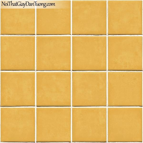 Giấy dán tường FIESTA Hàn Quốc FE1605-3 (2), giả đá, giả gạch, tranh 3D, giấy dán tường giả gạch, màu vàng nền trắng