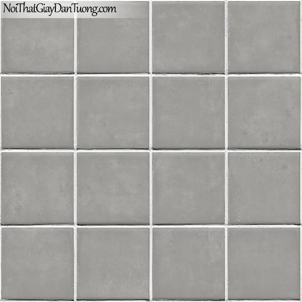 Giấy dán tường FIESTA Hàn Quốc FE1605-4 (2), giả đá, giả gạch, tranh 3D, giấy dán tường giả gạch, màu xám