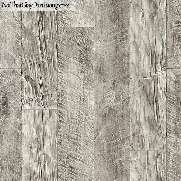 Giấy dán tường FIESTA Hàn Quốc FE1607-2, giả đá, giả gạch, giả gỗ, tranh 3D, giả kệ sách, giấy dán tường giả gỗ, màu nâu xám