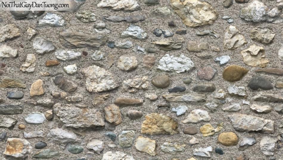 Giấy dán tường Natural Hàn Quốc 87031-2, giả gạch, giả đá, giả gỗ 3D, giấy dán tường giả đá, màu nâu xám, phối cảnh