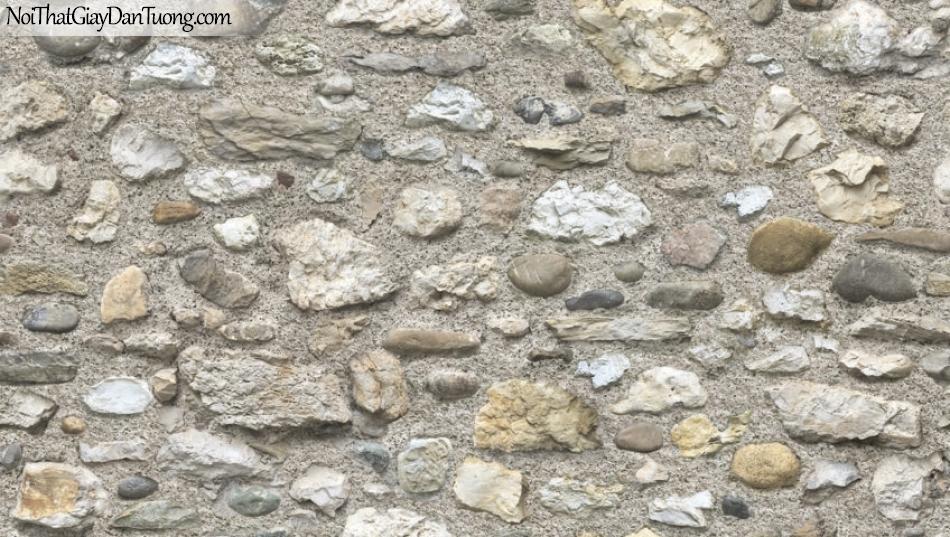 Giấy dán tường Natural Hàn Quốc 87031-2 PC, giả gạch, giả đá, giả gỗ 3D, giấy dán tường giả đá, màu nâu xám, phối cảnh