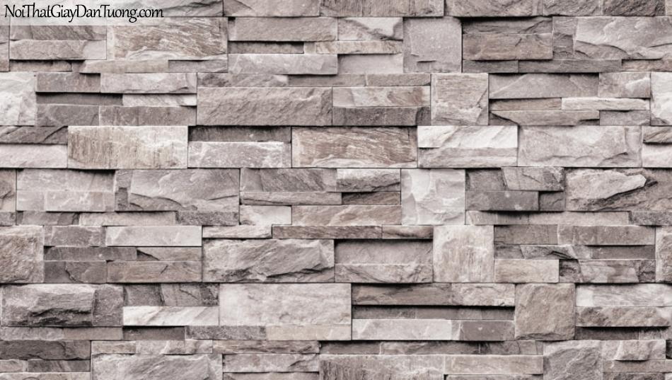 Giấy dán tường Natural Hàn Quốc 87038-1, giả gạch, giả đá, giả gỗ 3D, giấy dán tường giả gạch, màu nâu xám