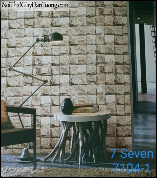 7 SEVEN, 7SEVEN, Giấy dán tường Hàn Quốc 7104-1 (2) PC, giấy dán tường 3D gân nhỏ, giả đá, giả gỗ, giả gạch, phù hợp với nhà hàng, cafe, spa, phối cảnh