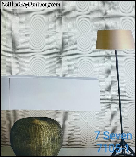 7 SEVEN, 7SEVEN, Giấy dán tường Hàn Quốc 7105-1 (2) PC, giấy dán tường 3D gân nhỏ, giả đá, giả gỗ, giả gạch, phù hợp với nhà hàng, cafe, spa, phối cảnh