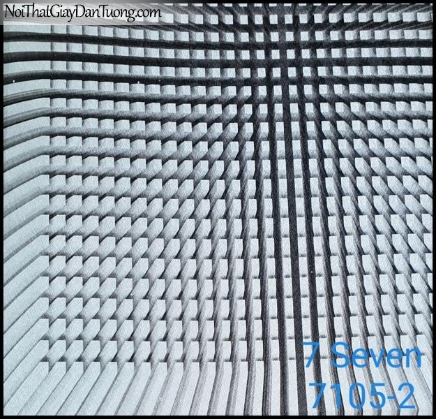 7 SEVEN, 7SEVEN, Giấy dán tường Hàn Quốc 7105-2, giấy dán tường 3D gân nhỏ, giả đá, giả gỗ, giả gạch, màu xám