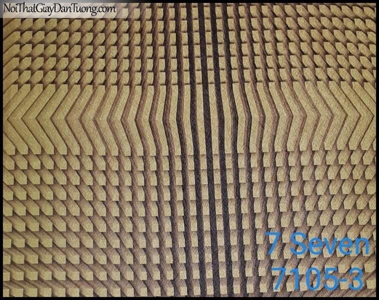 7 SEVEN, 7SEVEN, Giấy dán tường Hàn Quốc 7105-3 (2), giấy dán tường 3D gân nhỏ, giả đá, giả gỗ, giả gạch, màu nâu xám