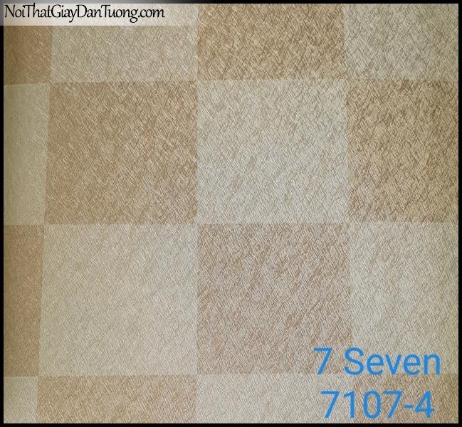 7 SEVEN, 7SEVEN, Giấy dán tường Hàn Quốc 7107-4 (2), giấy dán tường 3D gân nhỏ, giả đá, giả gỗ, giả gạch, màu vàng xám