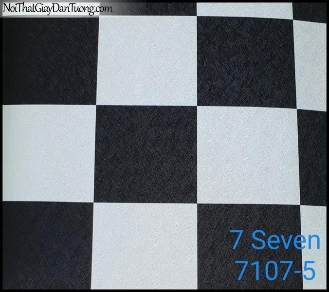 7 SEVEN, 7SEVEN, Giấy dán tường Hàn Quốc 7107-5, giấy dán tường 3D gân nhỏ, giả đá, giả gỗ, giả gạch, màu đen trắng