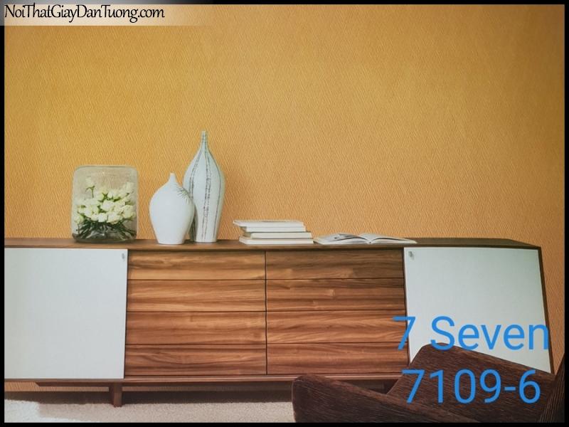 7 SEVEN, 7SEVEN, Giấy dán tường Hàn Quốc 7109-6 PC, giấy dán tường 3D gân nhỏ, giả đá, giả gỗ, giả gạch, màu vàng, phối cảnh