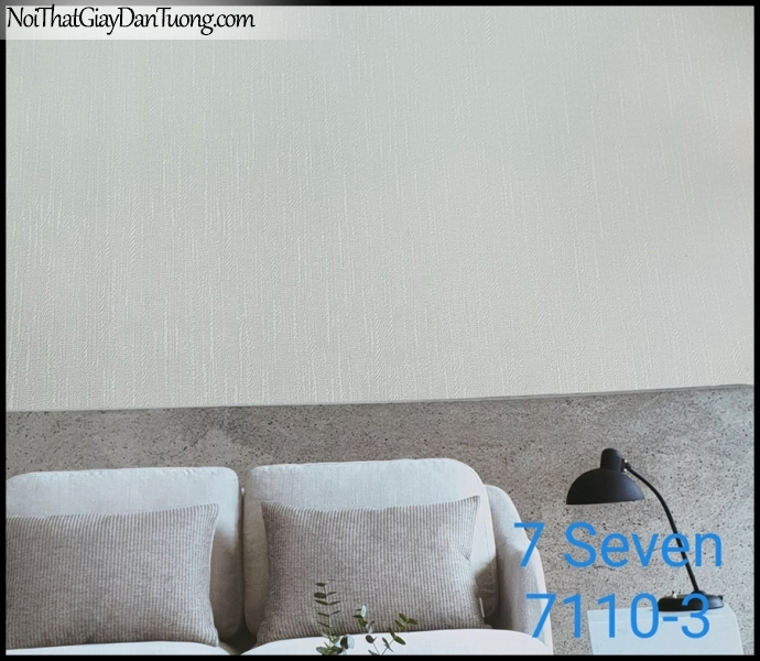7 SEVEN, 7SEVEN, Giấy dán tường Hàn Quốc 7110-3 PC, giấy dán tường 3D gân nhỏ, giả đá, giả gỗ, giả gạch, màu nâu xám, phối cảnh
