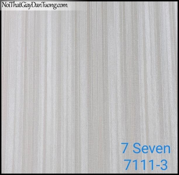 7 SEVEN, 7SEVEN, Giấy dán tường Hàn Quốc 7111-3, giấy dán tường 3D gân nhỏ, giả đá, giả gỗ, giả gạch, màu tím nhạt