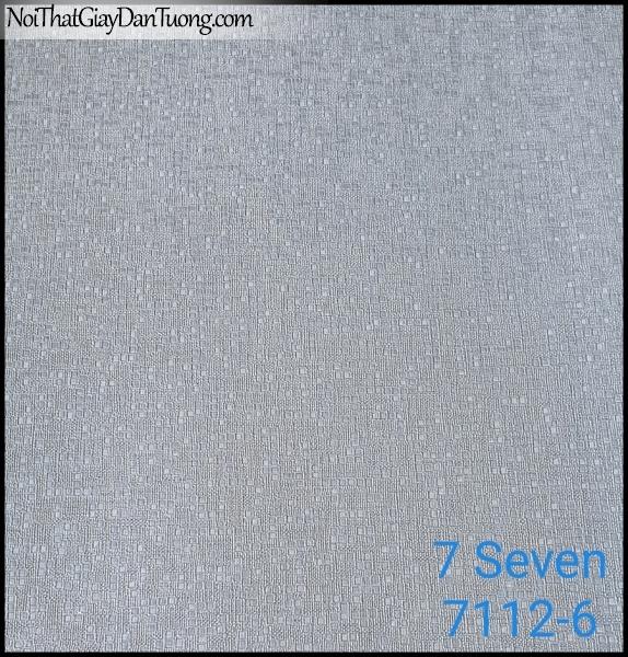7 SEVEN, 7SEVEN, Giấy dán tường Hàn Quốc 7112-6, giấy dán tường 3D gân nhỏ, giả đá, giả gỗ, giả gạch, màu nâu xám