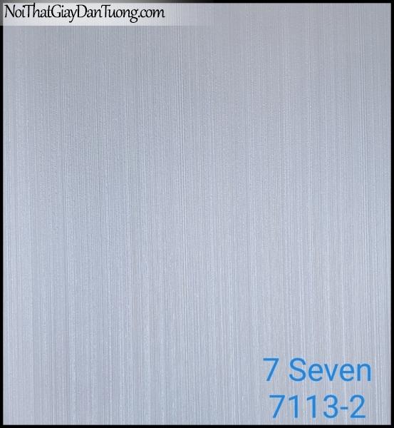 7 SEVEN, 7SEVEN, Giấy dán tường Hàn Quốc 7113-2, giấy dán tường 3D gân nhỏ, giả đá, giả gỗ, giả gạch, sọc đứng, màu nâu xám