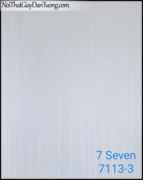 7 SEVEN, 7SEVEN, Giấy dán tường Hàn Quốc 7113-3, giấy dán tường 3D gân nhỏ, giả đá, giả gỗ, giả gạch, sọc đứng, màu nâu xám