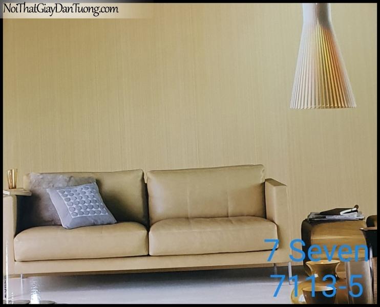 7 SEVEN, 7SEVEN, Giấy dán tường Hàn Quốc 7113-5 (2) PC, giấy dán tường 3D gân nhỏ, giả đá, giả gỗ, giả gạch, sọc đứng, màu vàng, phối cảnh