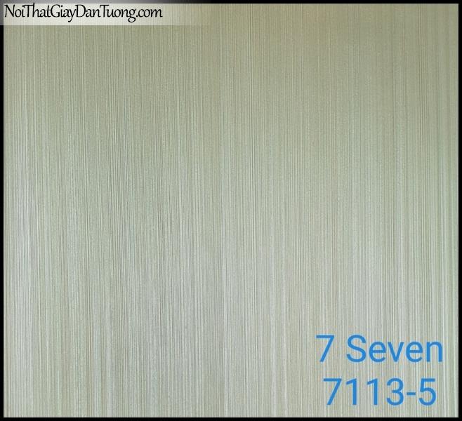 7 SEVEN, 7SEVEN, Giấy dán tường Hàn Quốc 7113-5, giấy dán tường 3D gân nhỏ, giả đá, giả gỗ, giả gạch, sọc đứng, màu vàng xám