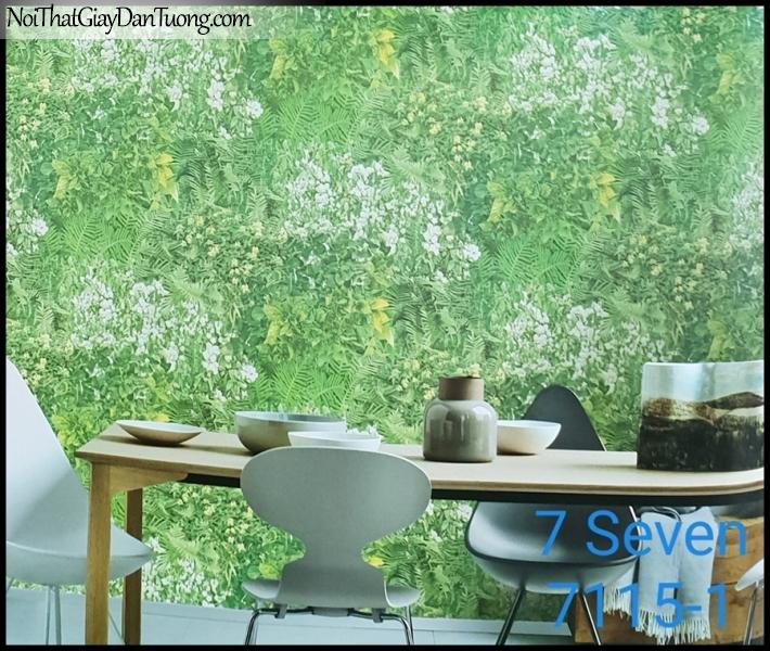 7 SEVEN, 7SEVEN, Giấy dán tường Hàn Quốc 7115-1 PC, giấy dán tường 3D gân nhỏ, giả đá, giả gỗ, giả gạch, cây cối, hoa lá xanh, phối cảnh