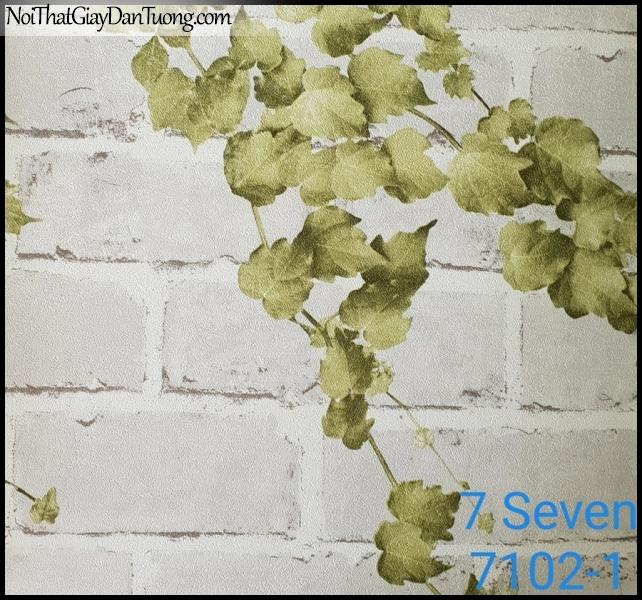 7 SEVEN, 7SEVEN, Giấy dán tường Hàn Quốc 7102-1, giấy dán tường 3D gân nhỏ, giả gạch, phù hợp với nhà hàng, cafe