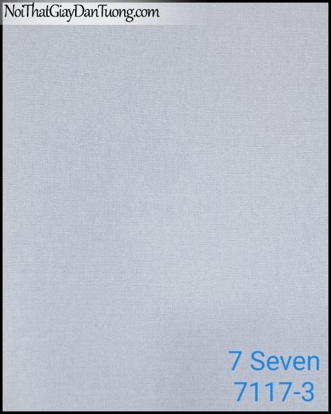 7 SEVEN, 7SEVEN, Giấy dán tường Hàn Quốc 7117-3, giấy dán tường 3D gân nhỏ, giả đá, giả gỗ, giả gạch, màu nâu xám