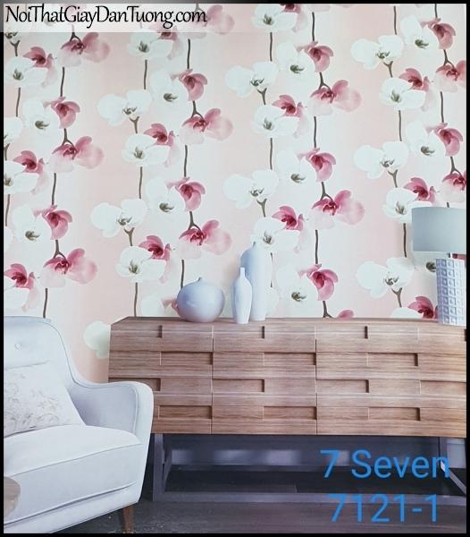 7 SEVEN, 7SEVEN, Giấy dán tường Hàn Quốc 7121-1 (2) PC, giấy dán tường 3D gân nhỏ, giả đá, giả gỗ, giả gạch, giả hoa đá 3D, phối cảnh