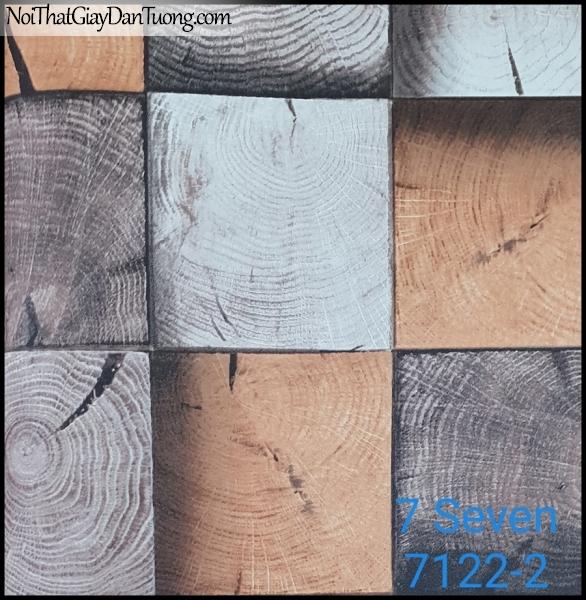 7 SEVEN, 7SEVEN, Giấy dán tường Hàn Quốc 7122-2, giấy dán tường 3D gân nhỏ, giả đá, giả gỗ, giả gạch, màu nâu xám