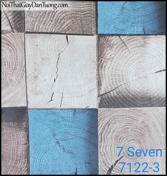 7 SEVEN, 7SEVEN, Giấy dán tường Hàn Quốc 7122-3 (2), giấy dán tường 3D gân nhỏ, giả đá, giả gỗ, giả gạch, màu xanh xám
