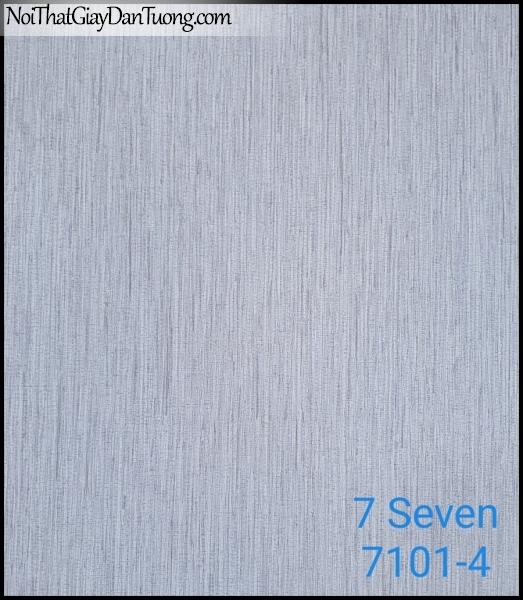 7 SEVEN, Giấy dán tường Hàn Quốc 7101-4, gân nhỏ, sọc li ti, màu xám, phù hợp với dự án, văn phòng, công ty