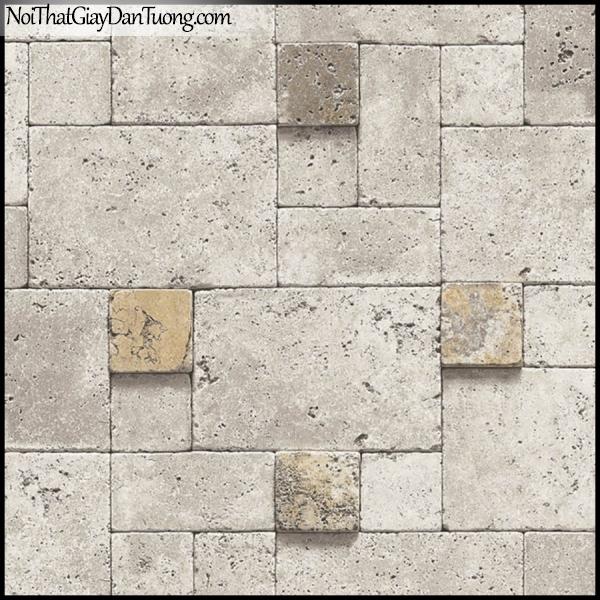 PLENUS, Giấy dán tường Hàn Quốc 2604-1, Giấy dán tường 3D giả đá, giả gạch, vân nhỏ li ti, màu nâu xám