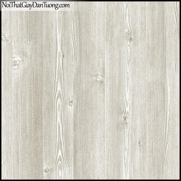 PLENUS, Giấy dán tường Hàn Quốc 2616-1, Giấy dán tường 3D giả gỗ, màu nâu xám