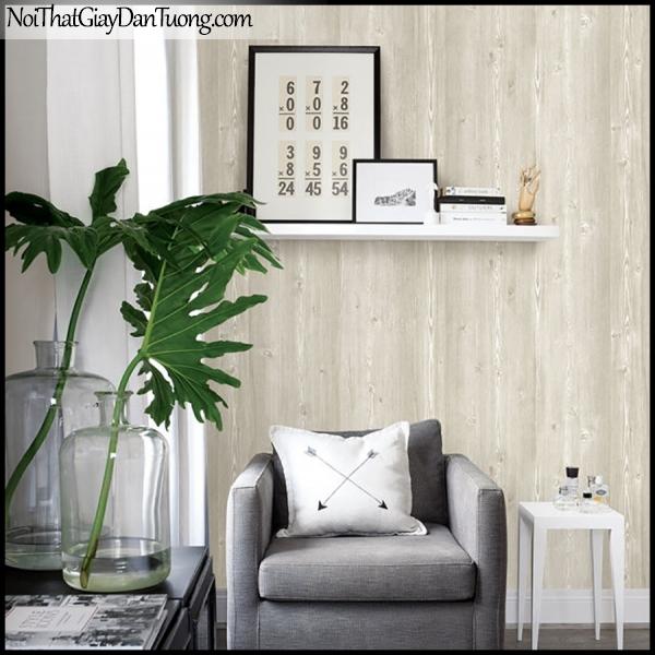 PLENUS, Giấy dán tường Hàn Quốc 2616-1m PC, Giấy dán tường 3D giả gỗ, màu nâu xám, phối cảnh