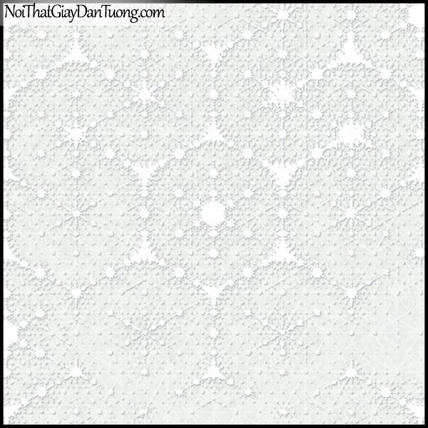 PLENUS, Giấy dán tường Hàn Quốc 2618-1, Giấy dán tường sọc nhỏ, gân li ti, màu trắng sữa