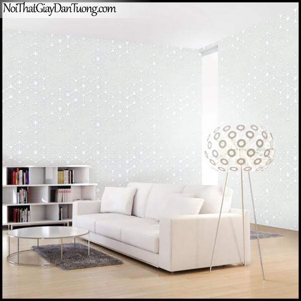 PLENUS, Giấy dán tường Hàn Quốc 2618-1m PC, Giấy dán tường sọc nhỏ, gân li ti, màu trắng sữa, phối cảnh
