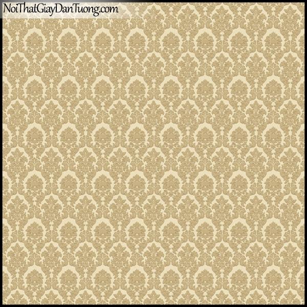 PLENUS, Giấy dán tường Hàn Quốc 2621-2, Giấy dán tường họa tiết hoa văn cổ điển, màu vàng cát