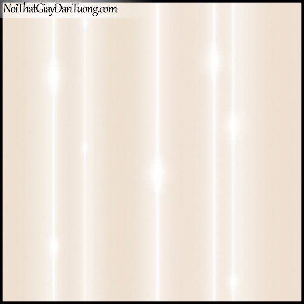 PLENUS, Giấy dán tường Hàn Quốc 2623-2, Giấy dán tường trơn, mịn, đường kẻ ánh sáng, màu hồng kem