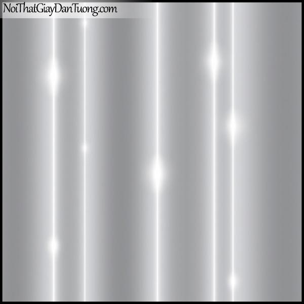 PLENUS, Giấy dán tường Hàn Quốc 2623-3, Giấy dán tường trơn, mịn, đường kẻ ánh sáng, màu nâu xám