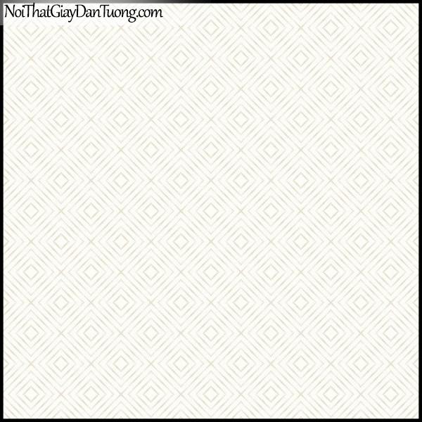PLENUS, Giấy dán tường Hàn Quốc 2625-1, Giấy dán tường 3D ô vuông, sọc kẻ, màu trắng sữa