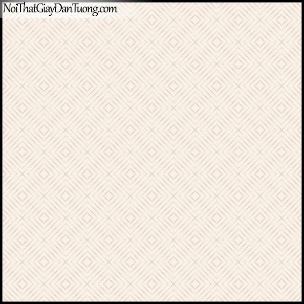PLENUS, Giấy dán tường Hàn Quốc 2625-2, Giấy dán tường 3D ô vuông, sọc kẻ, màu hồng kem