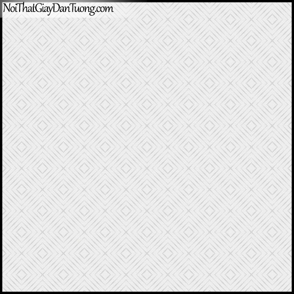 PLENUS, Giấy dán tường Hàn Quốc 2625-3, Giấy dán tường 3D ô vuông, sọc kẻ, màu trắng xám