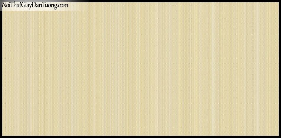 STAY, Giấy dán tường Hàn Quốc 415-3, Giấy dán tường sọc nhỏ đứng, gân li ti, màu vàng kem