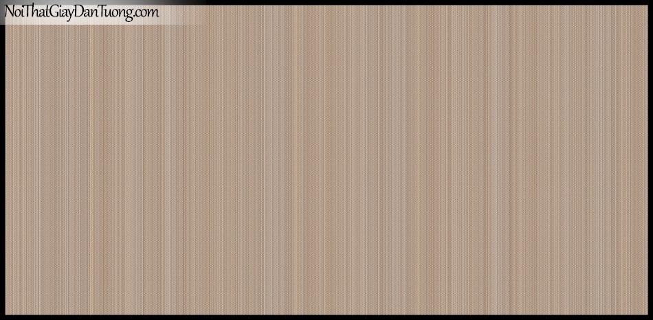 STAY, Giấy dán tường Hàn Quốc 415-4, Giấy dán tường sọc nhỏ đứng, gân li ti, màu nâu đất xám