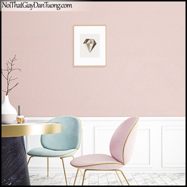 STAY, Giấy dán tường Hàn Quốc 419-4a PC, Giấy dán tường giả gạch, gân nhỏ, màu hồng, phối cảnh