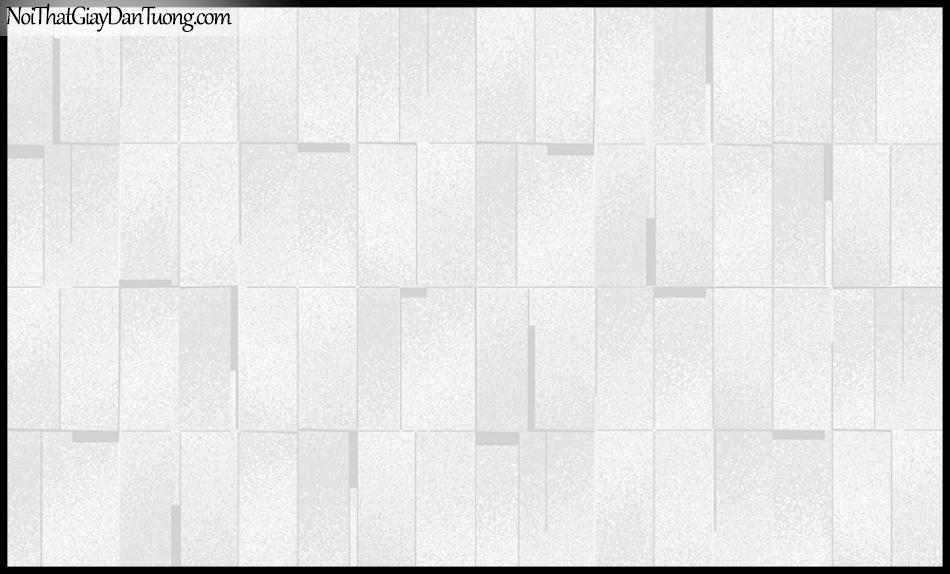 STAY, Giấy dán tường Hàn Quốc 420-1, Giấy dán tường 3D giả gạch, gân nhỏ, màu trắng xám